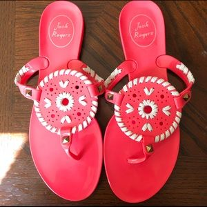 Jack Rogers Hot Pink Georgica Jelly Sandals